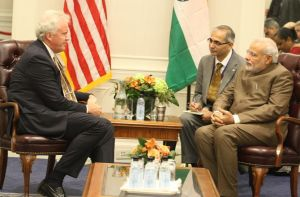 PM  Modi  with  CEO  of  General  Electric,  Jeffrey  Immelt,  Sep  29,  2014