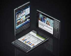 BlackBerry  Passport  Smartphones  in  display.