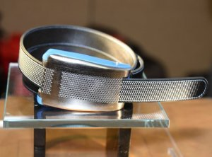 """ Smartbelt ""  -  Belty  from  'Emotia'  at  CES  2015."