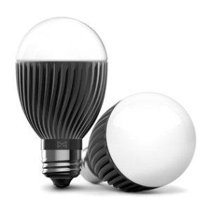 """Misfit""  Bolt  Smart  Light  Bulb  at  CES  2015."
