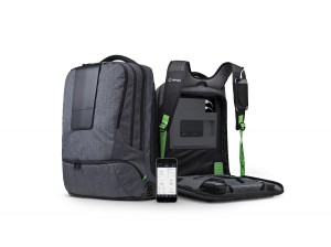 """ AMPL  Smart  Backpack "" -  International  CES  2015."