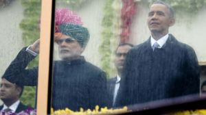 US  President  Obama  and  Indian  PM  Modi  during  the  Republic  Day,  January  26,  2015.