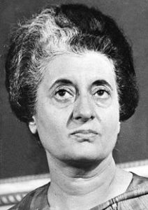 Late  Smt  Indira  Gandhi,  India's  4th  PM.