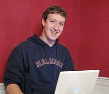 Mark  Zuckerberg,  Co creator  of  FB  in  Harvard  Dorm  Room  in  2005.
