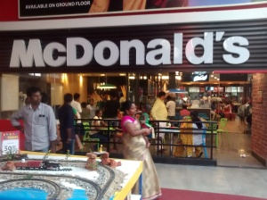 McDonald's  restaurant  in  Bangalore,  India.