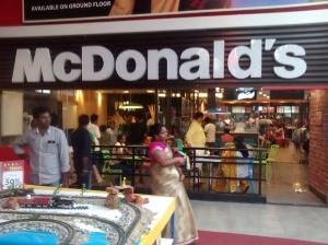 McDonald's  restaurant  in  Bangalore,  India.