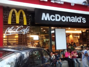 McDonald's  restaurant  in  IT  City  Bangalore,  India.