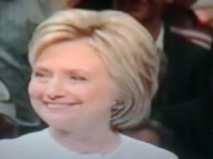 Hillary Clinton, likely presumptive Democratic Presidential  nominee.