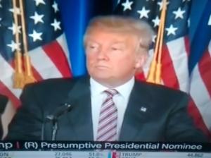 Donald Trump, presumptive Republican Presidential nominee.